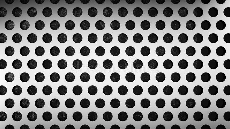Maille avec les trous ronds illustration de vecteur