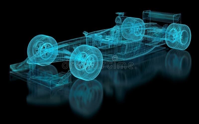 Maille de Formule 1 illustration stock