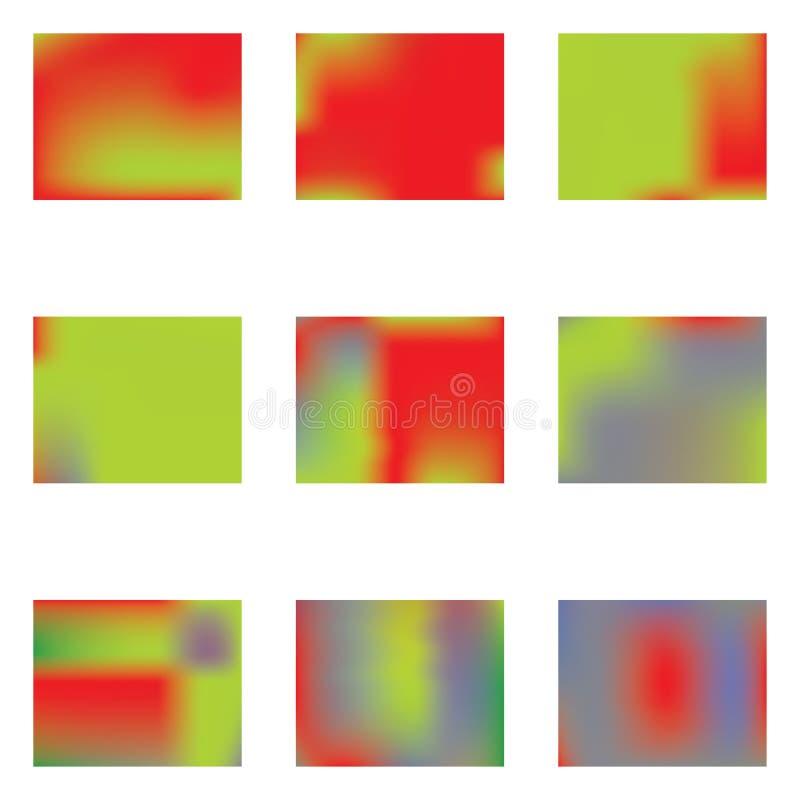 Maille de gradient peinte dans diff?rentes couleurs illustration de vecteur