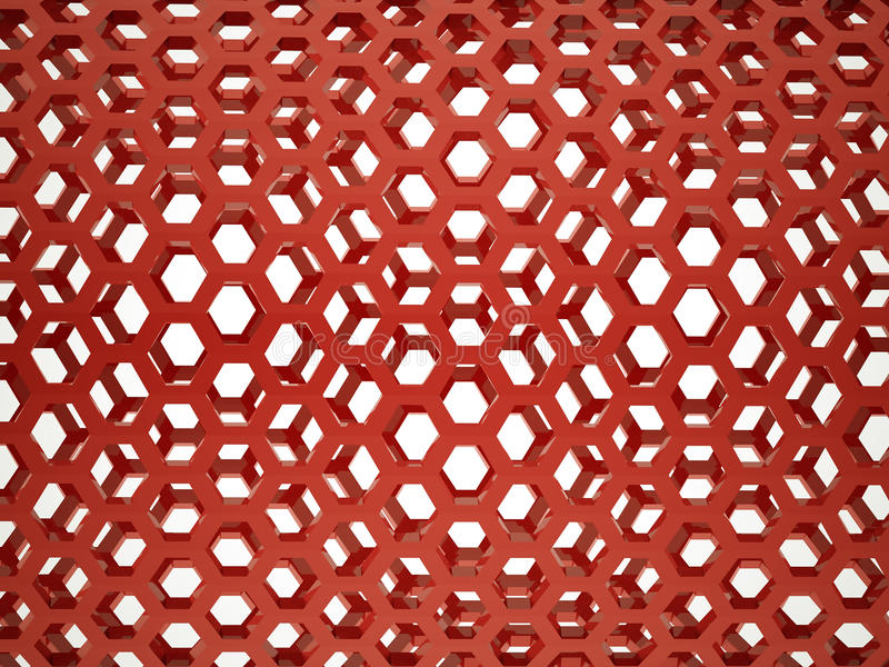 Maille hexagonale rouge illustration stock