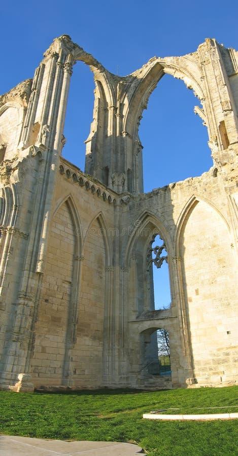 maillezais abbey po francusku obrazy royalty free