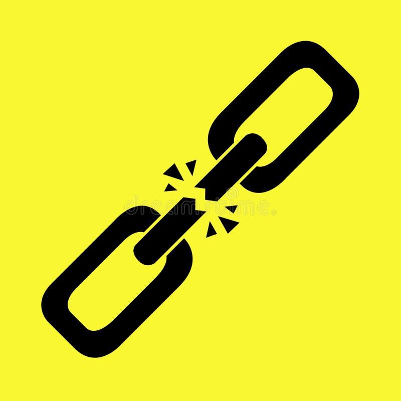 Maillon de chaîne cassé Vecteur Illustartion illustration libre de droits