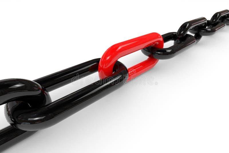 Maillon de chaîne rouge illustration stock