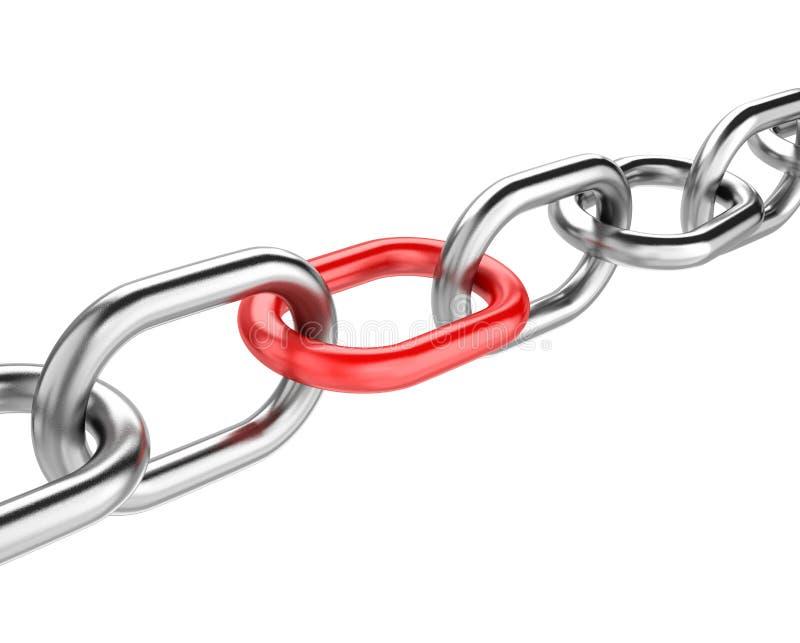 Maillon de chaîne rouge illustration libre de droits