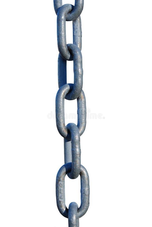 Maillons de chaîne d'isolement photo stock