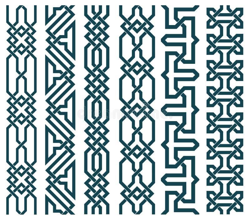 Maillons de chaîne dans le modèle islamique illustration stock