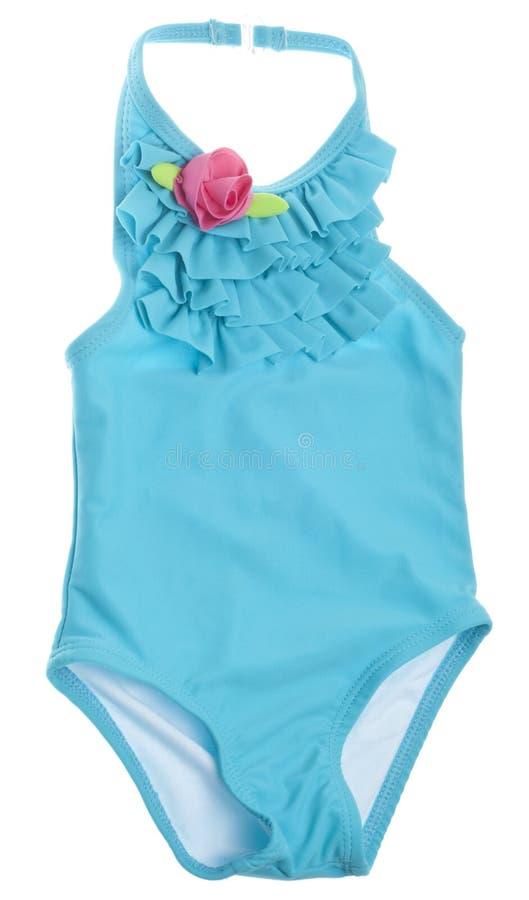 Maillot de bain d'été bleu avec Rose rose image stock