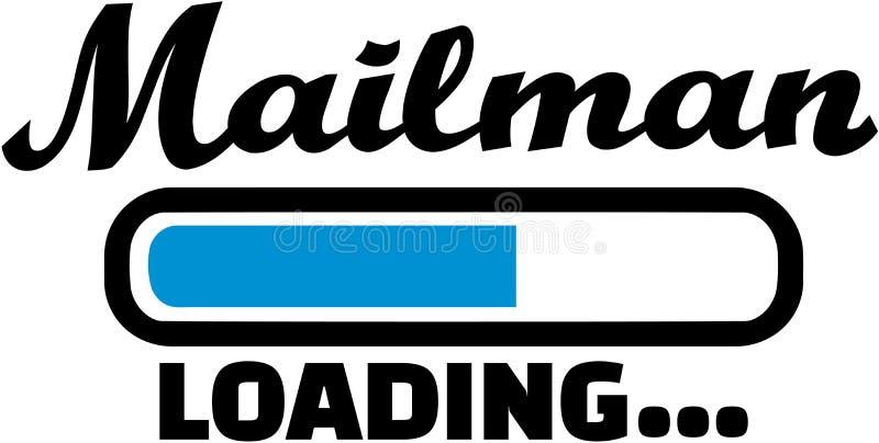 Mailman Ładowniczy wektor ilustracji