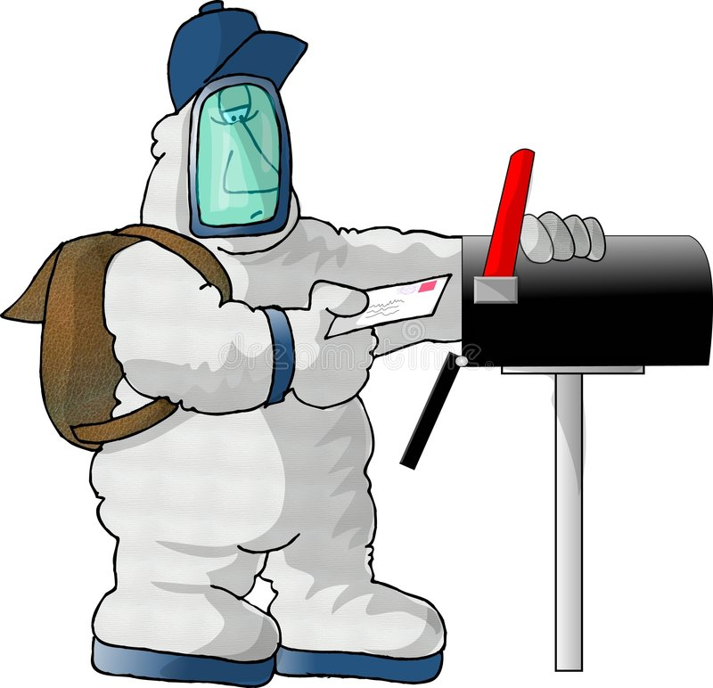 Download Mailman του 21$ου αιώνα απεικόνιση αποθεμάτων. εικονογραφία από κίνδυνος - 51730