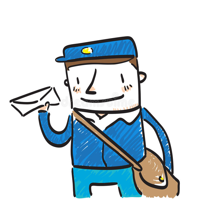 Download Mailman stock vector. Image of characters, male, message - 24620177