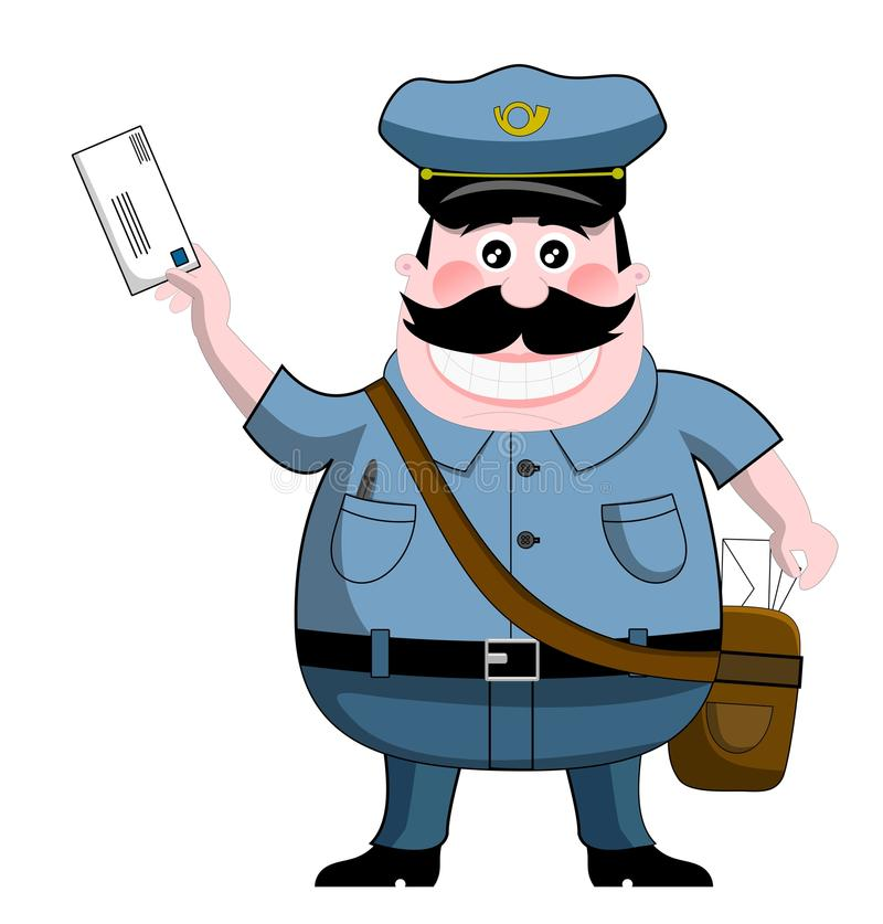 mailman royalty ilustracja
