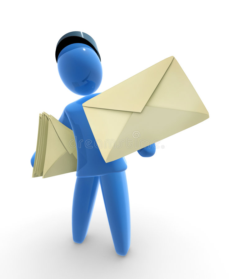 Mailman royalty illustrazione gratis