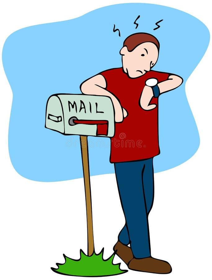 mailman czekanie ilustracji