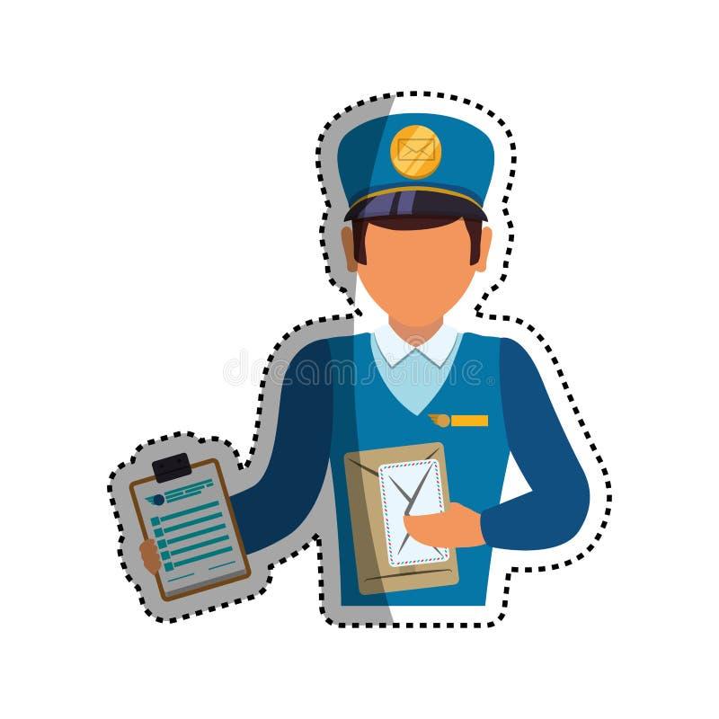 Mailman doręczeniowa usługa ilustracji