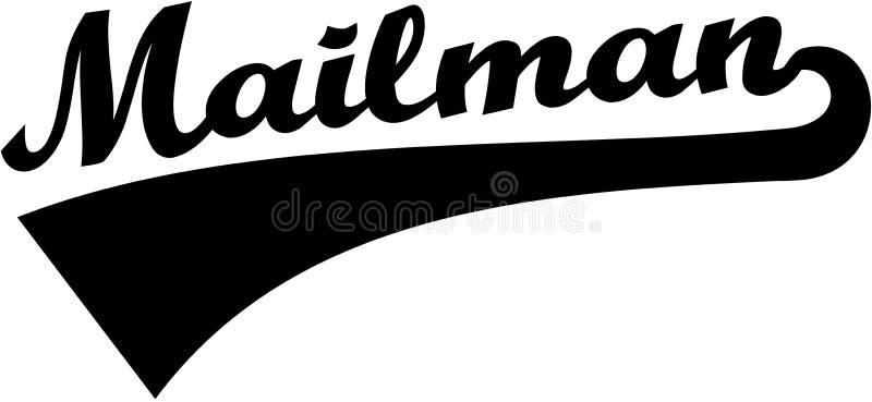 Mailman retro chrzcielnica ilustracji
