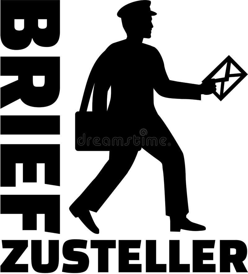 Mailman z niemieckim stanowiskiem ilustracji