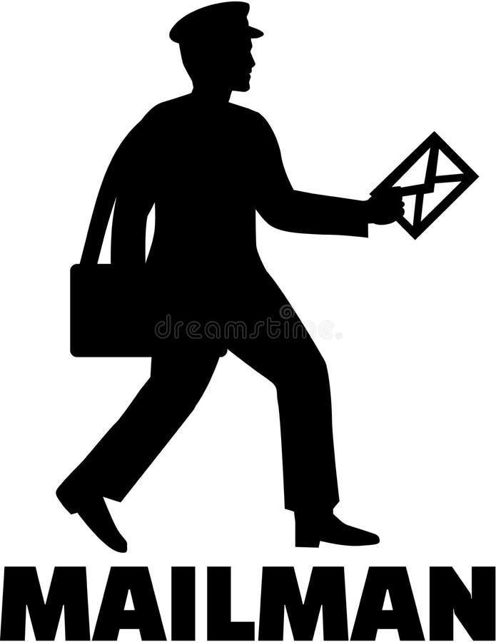 Mailman z stanowiskiem ilustracja wektor
