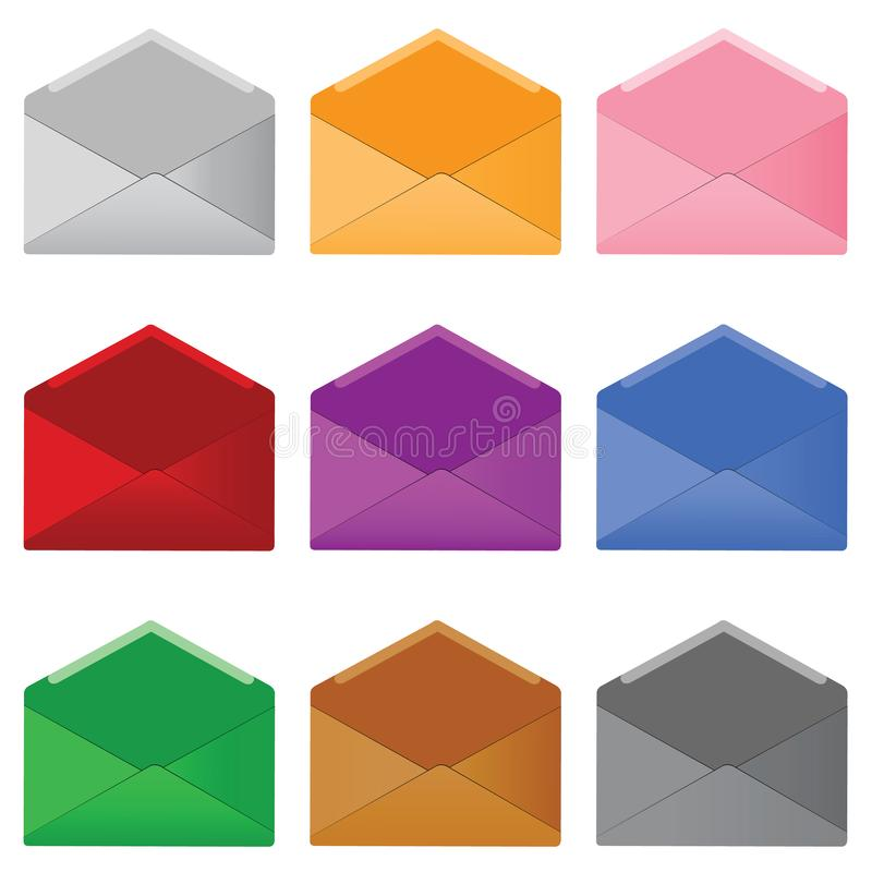 Download Mails stock vector. Illustration of blank, open, icon - 8457911