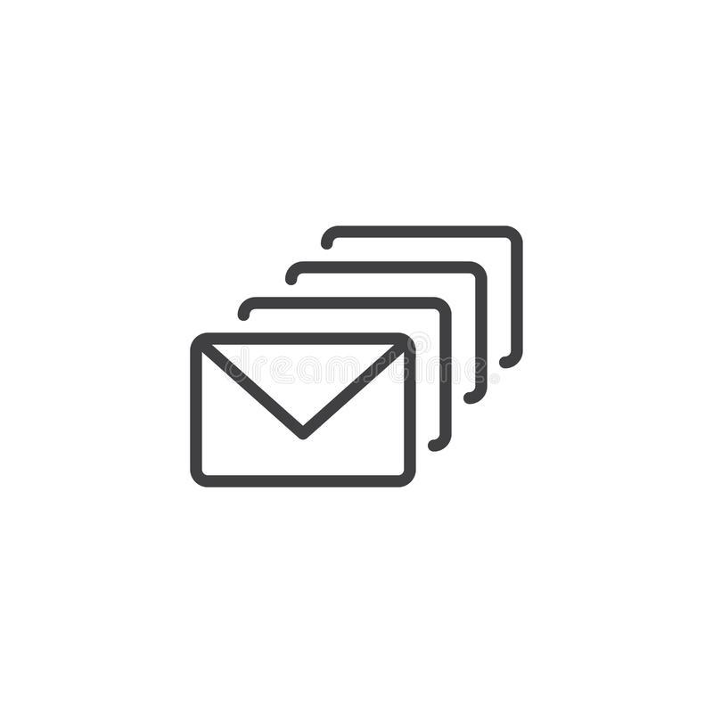 Mails outline icon royalty free illustration