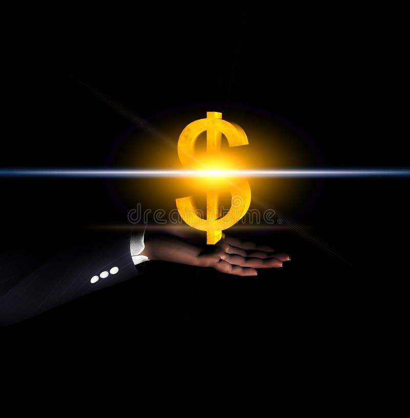 Main 35 du dollar illustration libre de droits