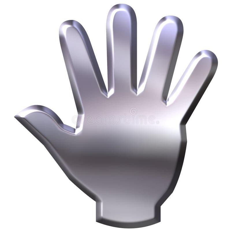main 3D argentée illustration stock