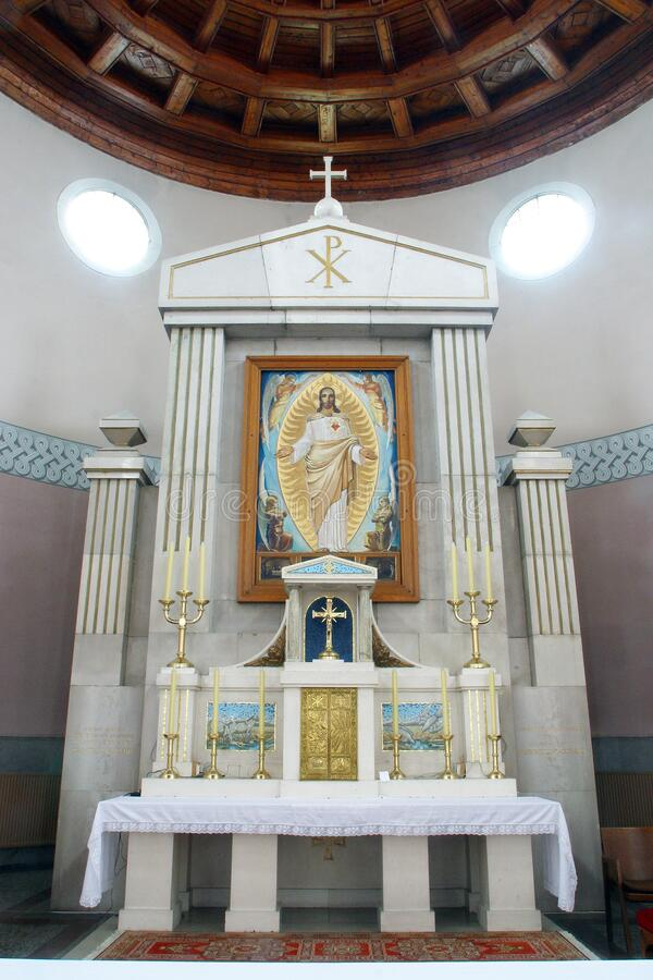 Free Main Altar In The Church Of The Sacred Heart Of Jesus, Salata In Zagreb Royalty Free Stock Photos - 177131328