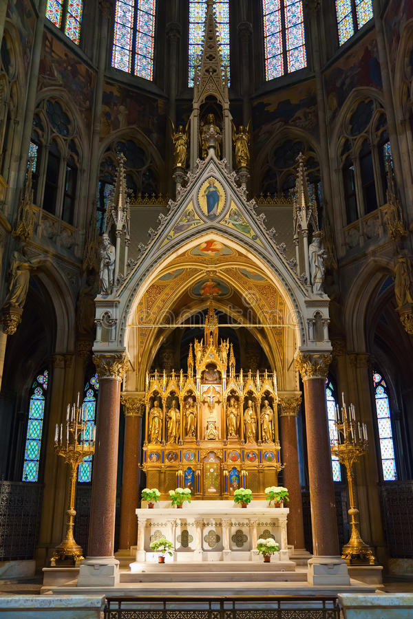 The Ring Vienna S Casual Luxury Hotel Vienna: Main Altar Of Votive Church Stock Image