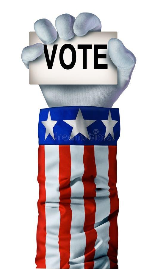 Main américaine d'élection illustration de vecteur