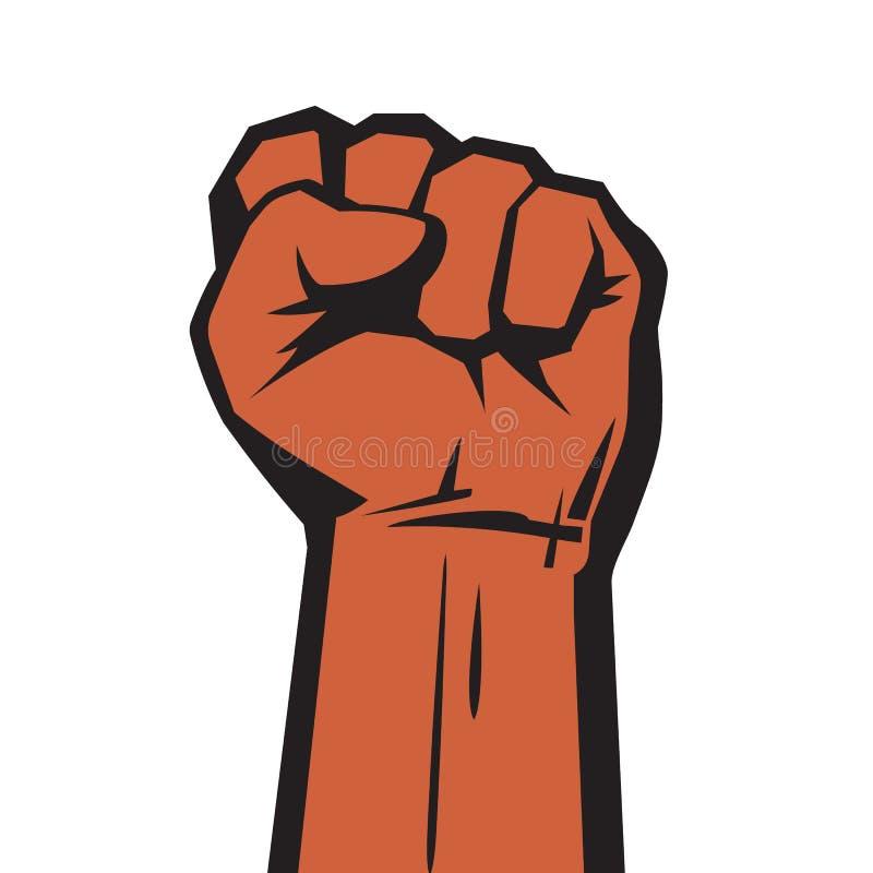 Main augmentée avec le poing serré illustration libre de droits