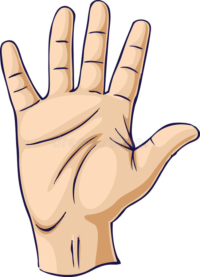 Main augmentée dans un geste de main ouvert illustration stock