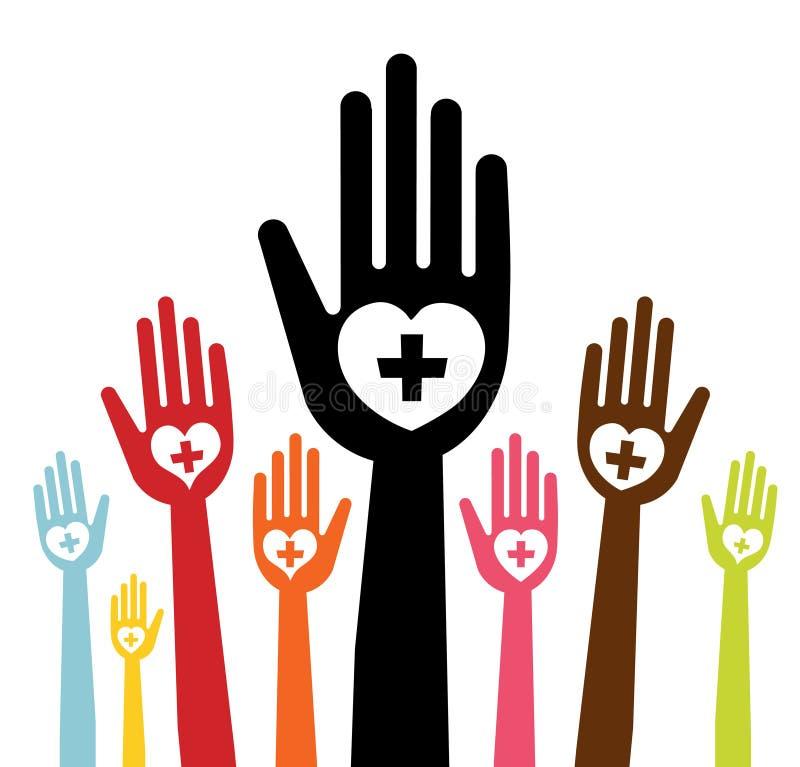Main avec amour illustration libre de droits