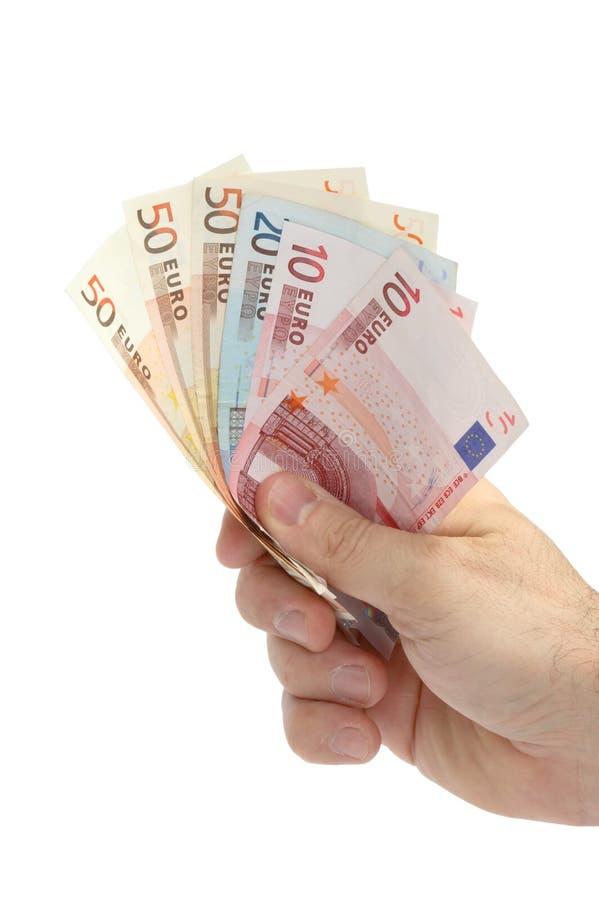 Main avec de l'argent photo libre de droits