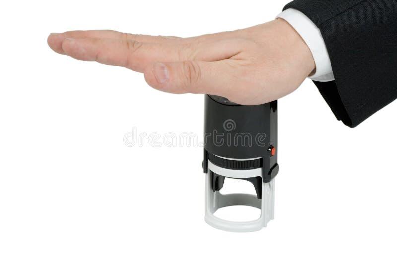 Main avec l'estampille photos libres de droits