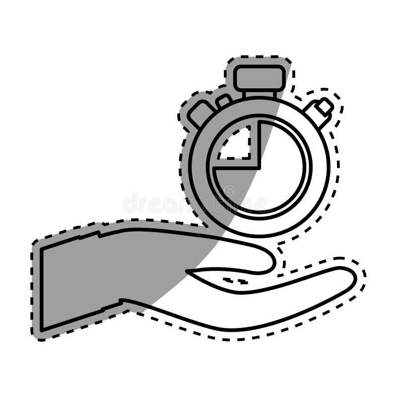 Download Main avec l'horloge illustration stock. Illustration du pointers - 87703791