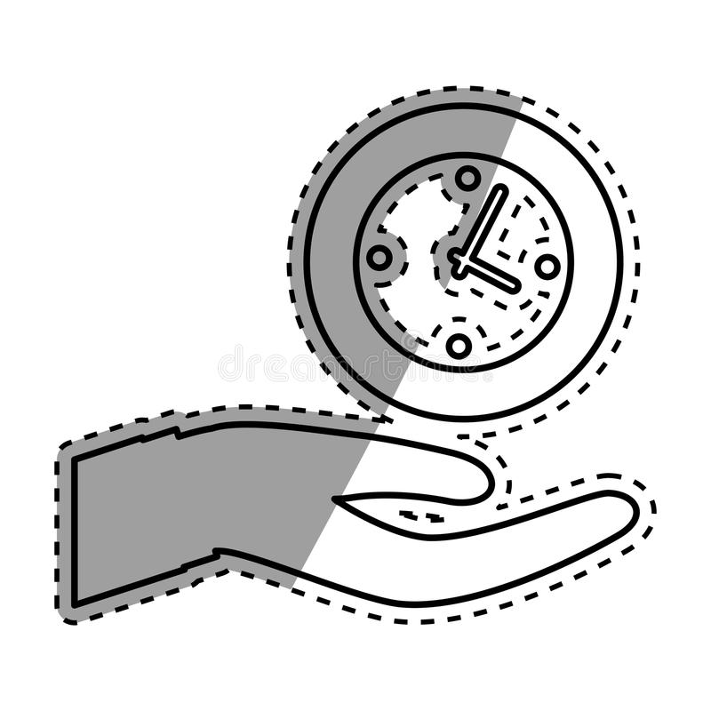 Download Main avec l'horloge illustration stock. Illustration du conceptuel - 87703834