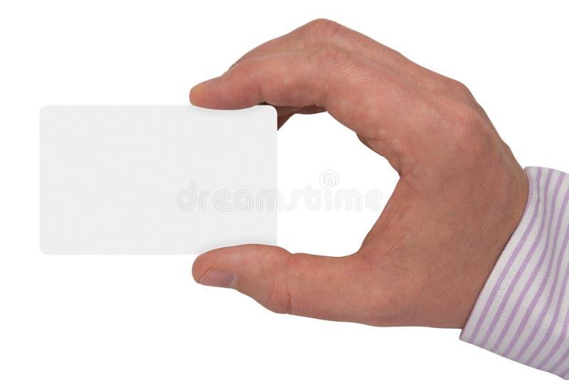 Main avec la carte vierge blanche image libre de droits
