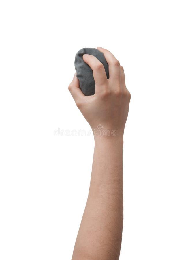 Main avec la gomme de marqueur photo libre de droits