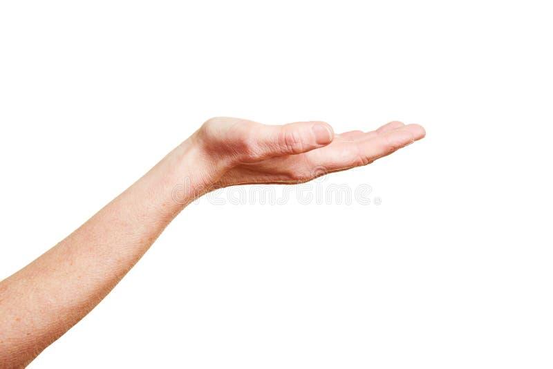 Main avec la paume ouverte photos stock