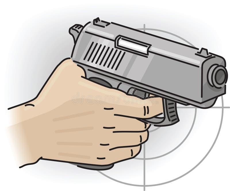 Main avec le canon illustration libre de droits