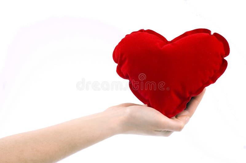 Main avec le coeur images stock
