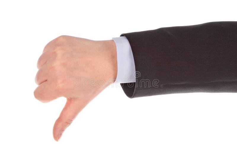 Main avec le geste de désapprobation photos libres de droits