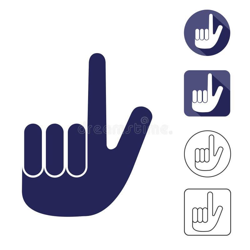 Main avec un index augmenté illustration libre de droits