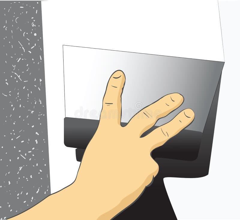 Main avec une spatule illustration de vecteur