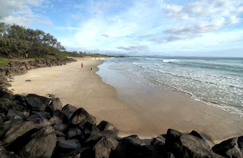 Main Beach at Byron Bay stock photography