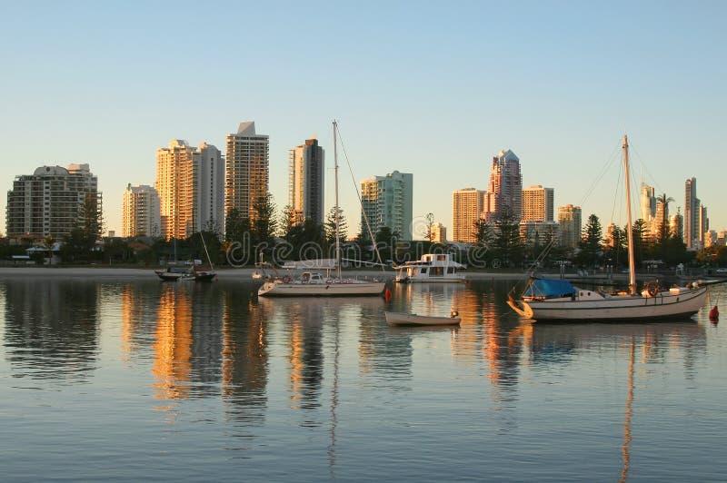 Main Beach Gold Coast Australia royalty free stock photography