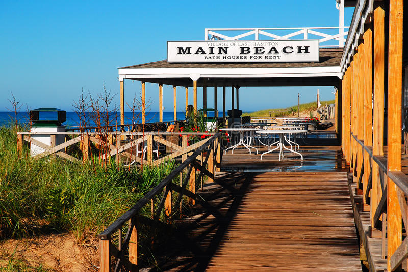 Main Beach Pavilion, East Hampton. Main Beach in East Hampton, Long Island, is considered one of the best beaches in America royalty free stock images