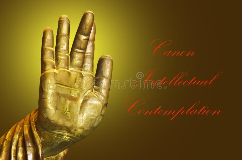 Main Bouddha photos libres de droits