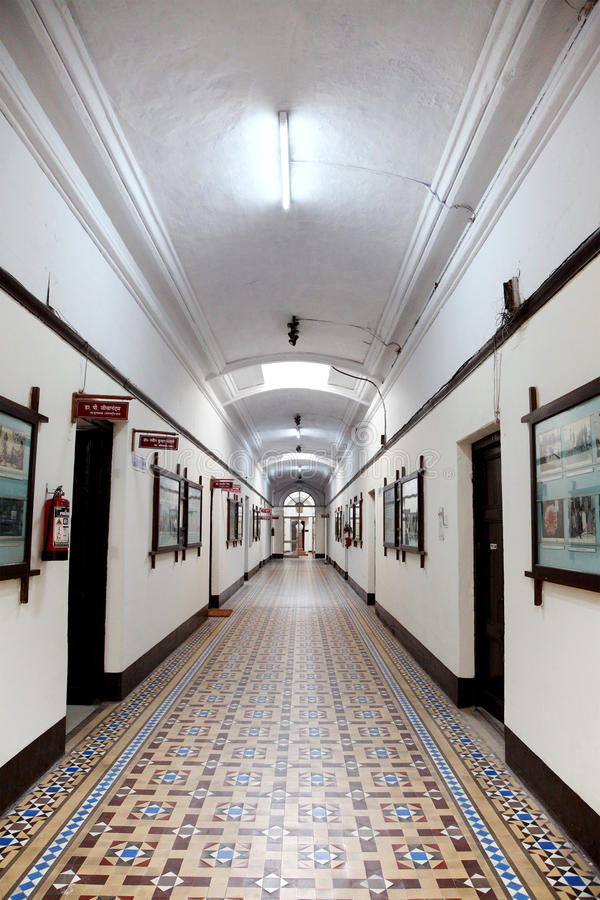 Main building Corridor IIT Roorkee. ROORKEE, INDIA - JULY 03: The interior dome of administrative building of IIT Roorkee photographed on July 03, 2015. This is royalty free stock images