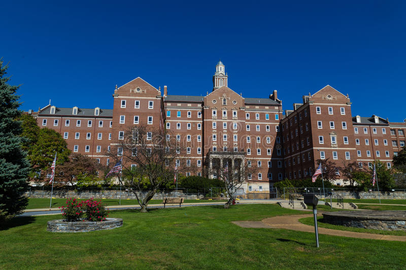 Main Building Department of Veterans Affairs Medical Center royalty free stock photo