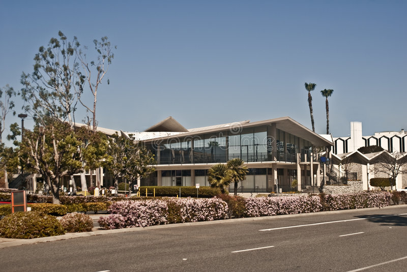 Main Building at Hope International University royalty free stock photos